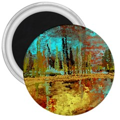 Autumn Landscape Impressionistic Design 3  Magnets by digitaldivadesigns
