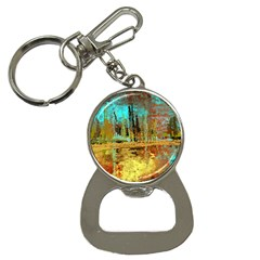 Autumn Landscape Impressionistic Design Bottle Opener Key Chains by digitaldivadesigns