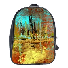 Autumn Landscape Impressionistic Design School Bags(large)  by digitaldivadesigns