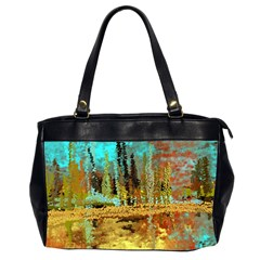 Autumn Landscape Impressionistic Design Office Handbags (2 Sides)  by digitaldivadesigns