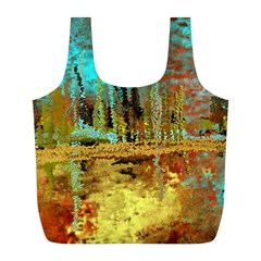 Autumn Landscape Impressionistic Design Full Print Recycle Bags (l)  by digitaldivadesigns