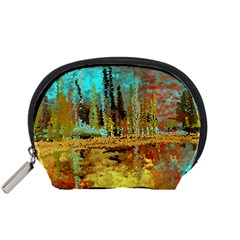 Autumn Landscape Impressionistic Design Accessory Pouches (small)  by digitaldivadesigns