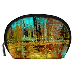 Autumn Landscape Impressionistic Design Accessory Pouches (large)  by digitaldivadesigns