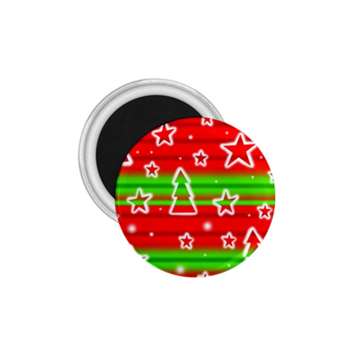Christmas pattern 1.75  Magnets
