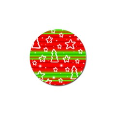 Christmas Pattern Golf Ball Marker (10 Pack) by Valentinaart