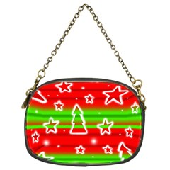 Christmas Pattern Chain Purses (one Side)  by Valentinaart
