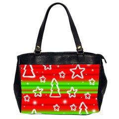 Christmas Pattern Office Handbags (2 Sides)  by Valentinaart