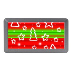 Christmas Pattern Memory Card Reader (mini) by Valentinaart