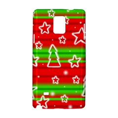 Christmas Pattern Samsung Galaxy Note 4 Hardshell Case by Valentinaart