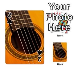 Vintage Guitar Acustic Playing Cards 54 Designs