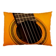 Vintage Guitar Acustic Pillow Case (two Sides) by AnjaniArt
