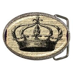 Vintage Music Sheet Crown Song Belt Buckles by AnjaniArt