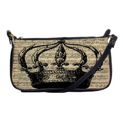 Vintage Music Sheet Crown Song Shoulder Clutch Bags by AnjaniArt