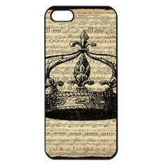 Vintage Music Sheet Crown Song Apple Iphone 5 Seamless Case (black)