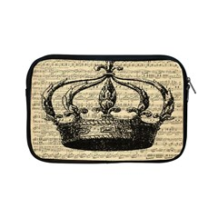 Vintage Music Sheet Crown Song Apple Ipad Mini Zipper Cases by AnjaniArt