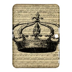 Vintage Music Sheet Crown Song Samsung Galaxy Tab 4 (10 1 ) Hardshell Case  by AnjaniArt