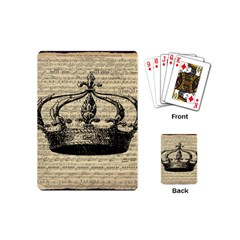 Vintage Music Sheet Crown Song Playing Cards (mini)  by AnjaniArt
