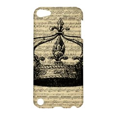 Vintage Music Sheet Crown Song Apple Ipod Touch 5 Hardshell Case by AnjaniArt