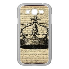 Vintage Music Sheet Crown Song Samsung Galaxy Grand Duos I9082 Case (white)