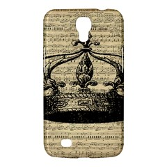 Vintage Music Sheet Crown Song Samsung Galaxy Mega 6 3  I9200 Hardshell Case by AnjaniArt