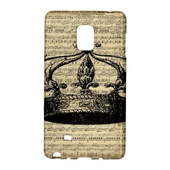 Vintage Music Sheet Crown Song Galaxy Note Edge by AnjaniArt