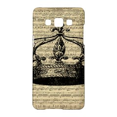 Vintage Music Sheet Crown Song Samsung Galaxy A5 Hardshell Case  by AnjaniArt