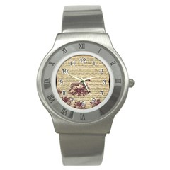 Vintage Music Sheet Song Musical Stainless Steel Watch by AnjaniArt