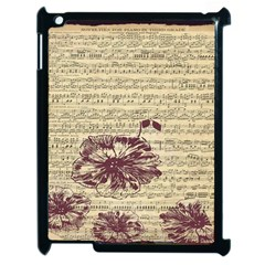 Vintage Music Sheet Song Musical Apple Ipad 2 Case (black)