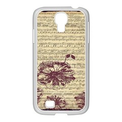 Vintage Music Sheet Song Musical Samsung Galaxy S4 I9500/ I9505 Case (white)