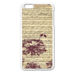 Vintage Music Sheet Song Musical Apple Iphone 6 Plus/6s Plus Enamel White Case