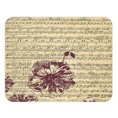 Vintage Music Sheet Song Musical Double Sided Flano Blanket (large)