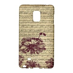 Vintage Music Sheet Song Musical Galaxy Note Edge by AnjaniArt
