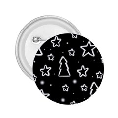 Black And White Xmas 2 25  Buttons
