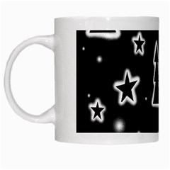 Black And White Xmas White Mugs by Valentinaart