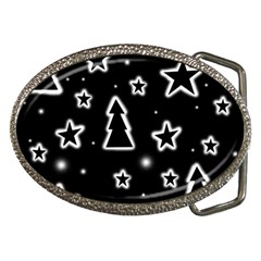 Black And White Xmas Belt Buckles by Valentinaart