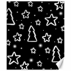 Black And White Xmas Canvas 8  X 10  by Valentinaart