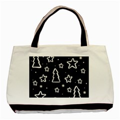 Black And White Xmas Basic Tote Bag (two Sides) by Valentinaart