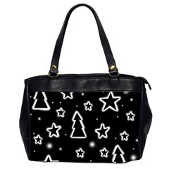 Black And White Xmas Office Handbags (2 Sides)  by Valentinaart
