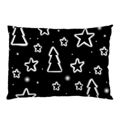 Black And White Xmas Pillow Case (two Sides)
