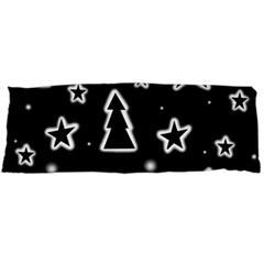 Black And White Xmas Body Pillow Case Dakimakura (two Sides) by Valentinaart