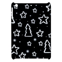Black And White Xmas Apple Ipad Mini Hardshell Case by Valentinaart