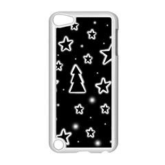 Black And White Xmas Apple Ipod Touch 5 Case (white) by Valentinaart