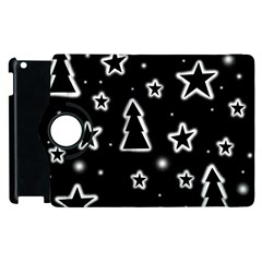 Black And White Xmas Apple Ipad 3/4 Flip 360 Case by Valentinaart
