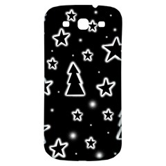 Black And White Xmas Samsung Galaxy S3 S Iii Classic Hardshell Back Case by Valentinaart