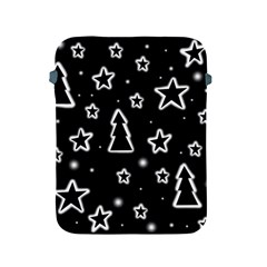Black And White Xmas Apple Ipad 2/3/4 Protective Soft Cases by Valentinaart