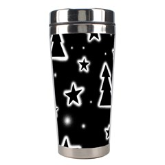 Black And White Xmas Stainless Steel Travel Tumblers by Valentinaart