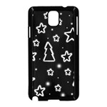 Black and white Xmas Samsung Galaxy Note 3 Neo Hardshell Case (Black) Front