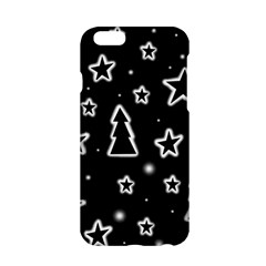 Black And White Xmas Apple Iphone 6/6s Hardshell Case by Valentinaart