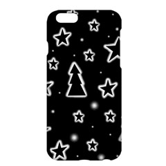 Black And White Xmas Apple Iphone 6 Plus/6s Plus Hardshell Case by Valentinaart