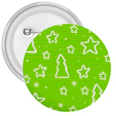 Green Christmas 3  Buttons by Valentinaart